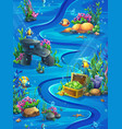 fish world vertical seamless - map vector image vector image