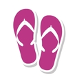 flip flops summer isolated icon vector image vector image