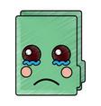 folder document kawaii cute cartoon vector image