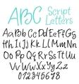 hand-written script letters vector image