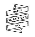 Happy St Patricks day greeting emblem vector image