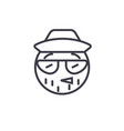 hipster emoji concept line editable vector image vector image