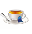 Hot tea in a Tea cup vector image