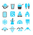 ice icon vector image vector image