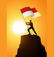 indonesia or monaco flag bearer vector image