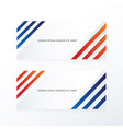 line abstract banner blue red vector image vector image