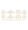 luxury monogram vintage ornamental decorative vector image