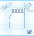 micro sd memory card line sketch icon isolated on vector image vector image