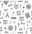 monochrome seamless pattern with books symbols vector image