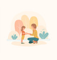 mother shows love and care to her daughter vector image