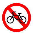 No bicycle vector image vector image