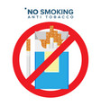 no smoking sign prohibition icon anti vector image