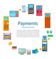 payment methods concept with digital vector image