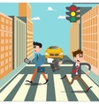 People on the Crosswalk Businessman Hurry to Work vector image vector image