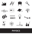 physics icons set eps10 vector image vector image
