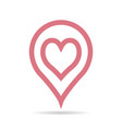 place on map pointer for love meeting vector image vector image