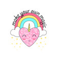 rainbow and heart vector image