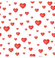 red love hearts seamless pattern valentine day vector image vector image
