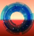 Retro-futuristic background with blue segmented vector image vector image