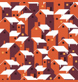 seamless christmas winter pattern vector image