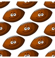 Seamless pattern of a smiling football ball vector image