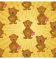 Seamless pattern teddy bears and gifts