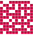 Seamless white and red square pattern abstract 3d vector image