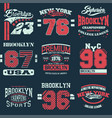 set of 9 brooklyn vector image vector image