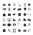 set of shopping black icons vector image vector image