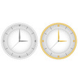 set of two dials with gray clock hands and gold vector image