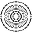 simple black lace mandala on a white background vector image vector image