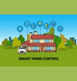 smart home control system automation modern house vector image vector image