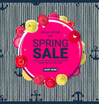 spring sale main label vector image vector image