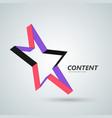 star icon 3d ribbon abstract symbol vector image vector image