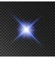 Star light shine Spotlight shining beams vector image vector image