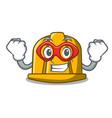 super hero construction helmet character cartoon vector image