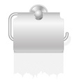 toilet paper on holder 04 vector image vector image