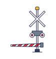train barrier icon cartoon style barrier vector image