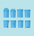 trash can set collection with various shape and vector image vector image