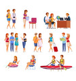 travel agency cartoon set vector image vector image