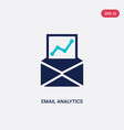 two color email analytics icon from business and vector image vector image