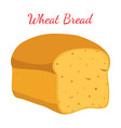 wheat bread whole grain loafcartoon style vector image