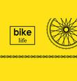 wheel bike postcard vector image vector image