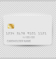 white blank bank card template top view vector image