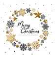 white golden merry christmas background vector image vector image