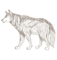 wolf sideview sketch icon vector image