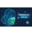 woman wearing respirator medical mask disease vector image