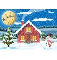 year winter landscape vector image