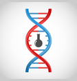 3D DNA icon vector image