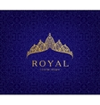 Abstract luxury royal golden company logo icon vector image vector image
